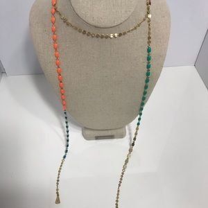 Stella dot lariat colorful gold necklace